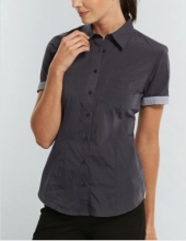 Ladies Gloweave End on End Short Sleeve Shirt