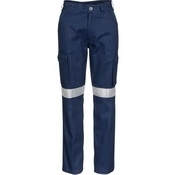 Ladies Cotton Drill Cargo Pants with 3M Reflective Tape