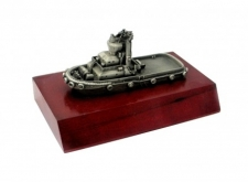 3D Pewter Model on Wooden Base