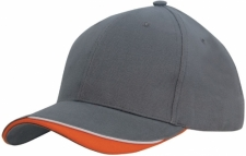 Brushed Heavy Cotton Cap with Indented Peak