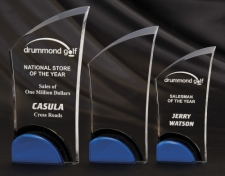 Acrylic Award with Blue Bottom