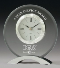 Glass Clock Service Award