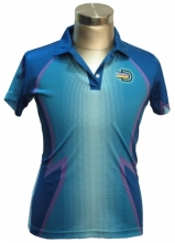 Dye Sub Raglan Polo - Ladies
