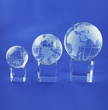 Custom 3D Crystal Spinning Globe