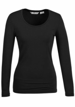 Black Ladies Jersey Top