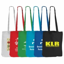 Coloured Cotton Double Long Handle Conference Bag