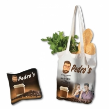 Cotton Folding Shopping Bag with Full Colour Design - 170 GSM